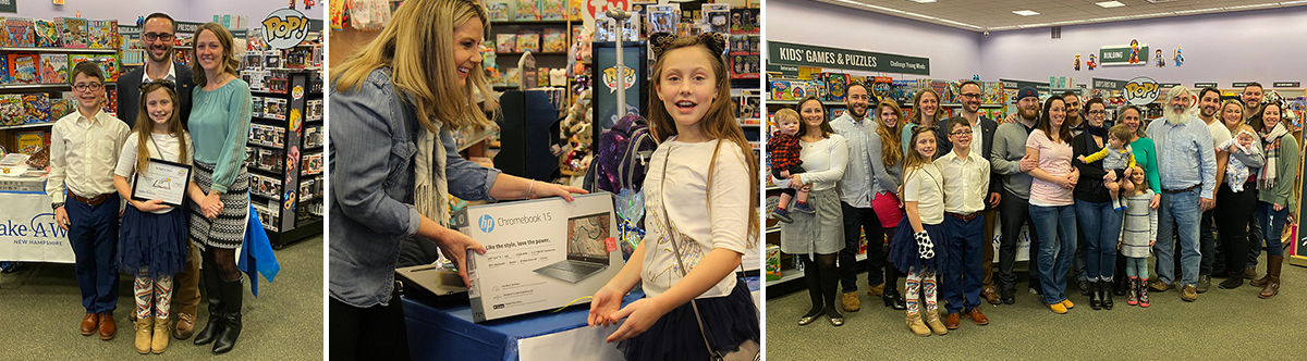 Emma the Author and Make-a-Wish NH